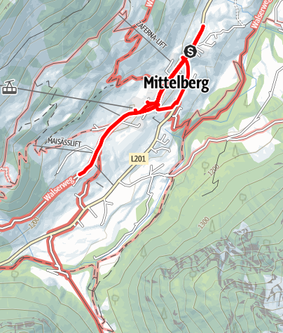 Map / Mittelberg advent calendar