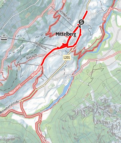 Karte / Mittelberger Adventskalender