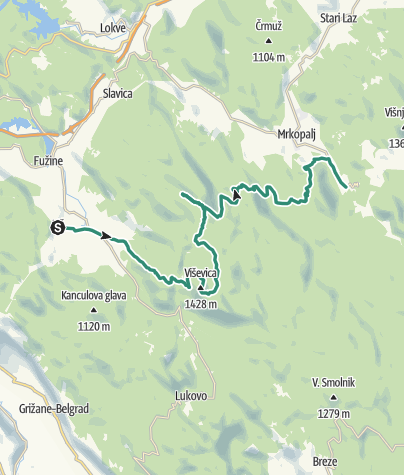 Map / Via Dinarica HR-W-05 Fužine - Mrkopalj