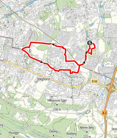 Karte / Bielefelder Runden/ Laufen & Walken am Sportplatz Oldentrup