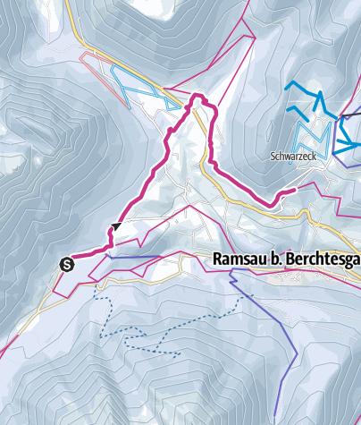 Karte / Vom Hintersee zum Soleleitungsweg