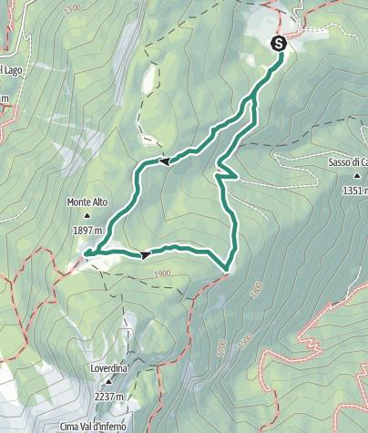 Karte / Arza-Alm, Termoncello-Alm und Loverdina-Alm