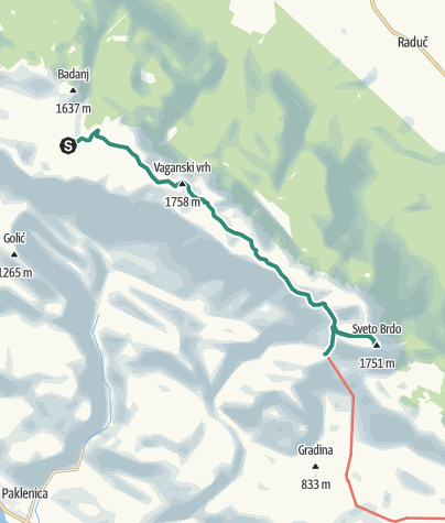 Map / Via Dinarica HR-W-17 Nacionalni park Paklenica