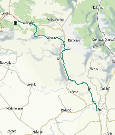 Map / Via Dinarica HR-W-20 Gračac - Zrmanja - Krka
