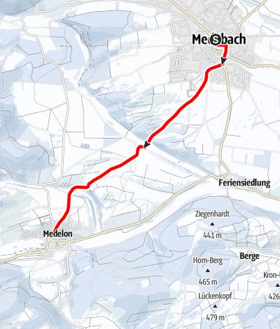 Kaart / Winterwandern von Medebach nach Medelon