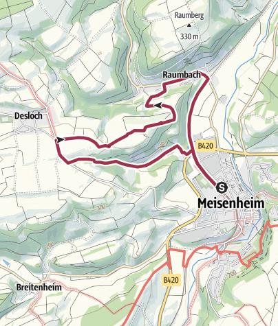 Map / Meisenheim - Panoramatour