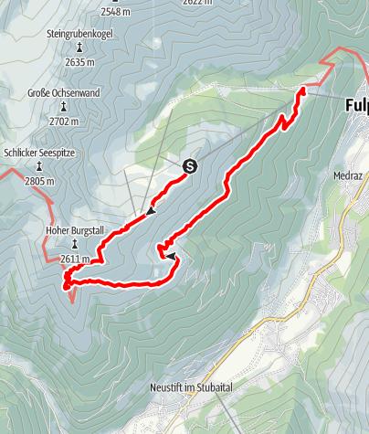 Karte / Naturschauplatz: Gletscherblick (Schlick)