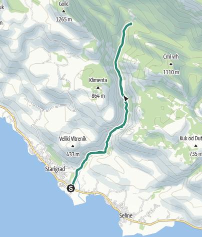 Karte / Via Dinarica HR-W-09 Nationalpark Paklenica