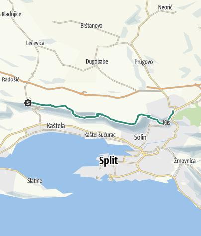 Karte / Via Dinarica HR-B-15 Kozjak