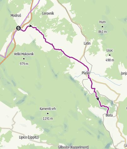 Map / Via Dinarica HR-G-06 Northern Lika: Plaščanska dolina