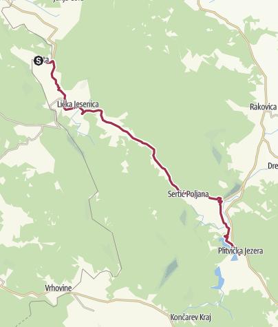 Mapa / Via Dinarica HR-G-06 Nacionalni park Plitvička jezera