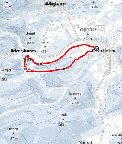 Karte / Winterwandern von Oberschledorn nach Referinghausen, Rundwanderweg