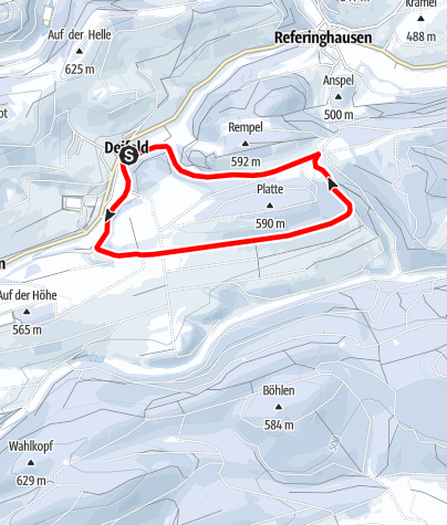 Kaart / Winterwandern in Deifeld, Rundwanderweg