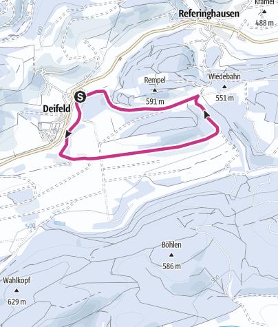 Karte / Winterwandern in Deifeld, Rundwanderweg