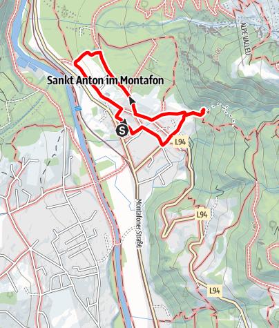 Karte / Kinderwanderweg St. Anton im Montafon