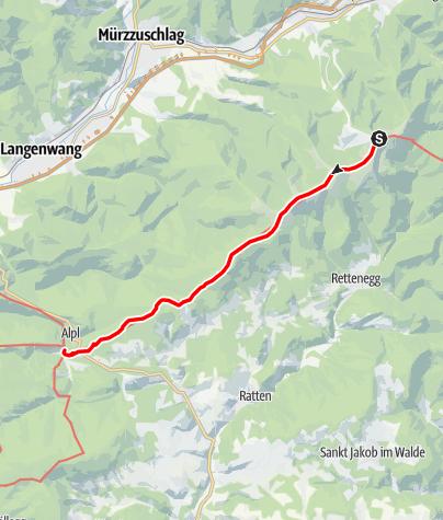 Karte / 02 Zentralalpenweg Ost, E09: Alois-Günther-Haus - Alpl