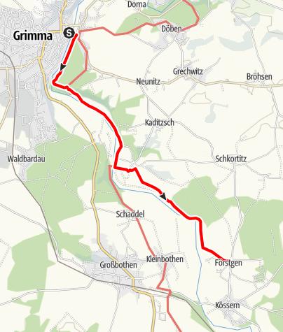 Karte / Weg der Steine Grimma