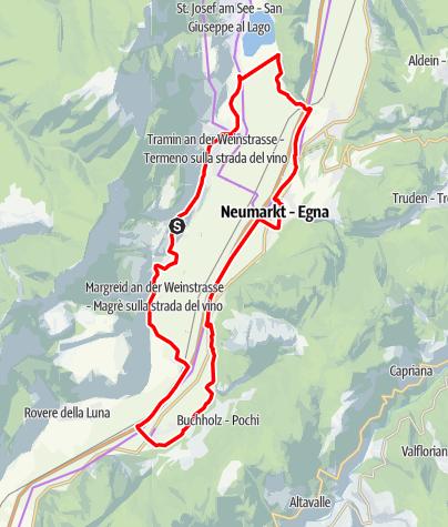 Mapa / Weinradroute Süd, Wein & Rad: Gewürztraminer & Blauburgunder