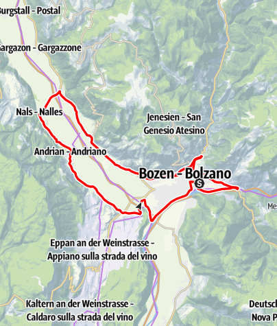 Map / Northern wine route, Wine & bike: Lagrein and Sauvignon