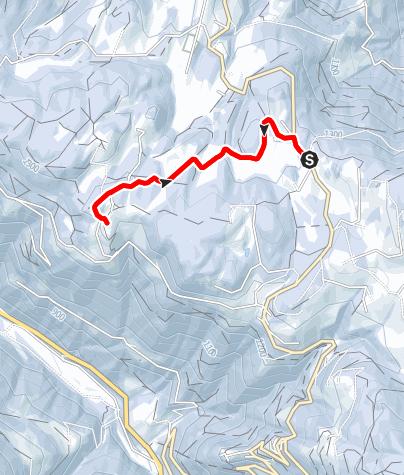Mapa / Winterwanderung zum Untereggerhof
