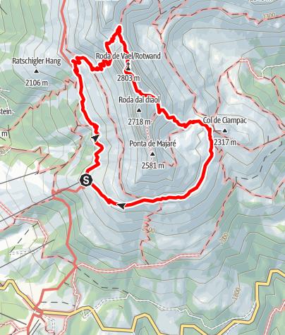 Map / Rotwand Via Ferrata