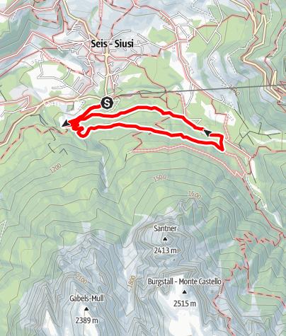 Mapa / Oswald von Wolkenstein-Weg