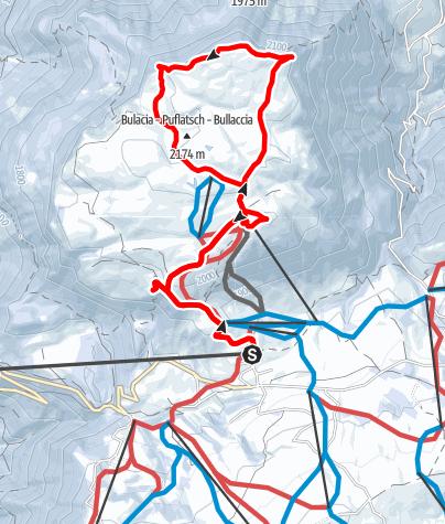 Karte / Winterwanderung auf den Puflatsch
