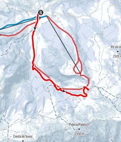 Mapa / Winterwanderung zur Zallinger Hütte