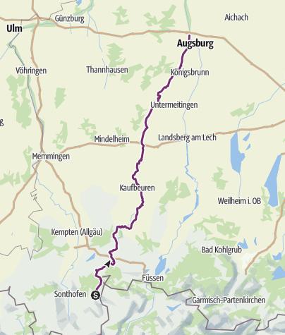 Karte / Wertach erleben