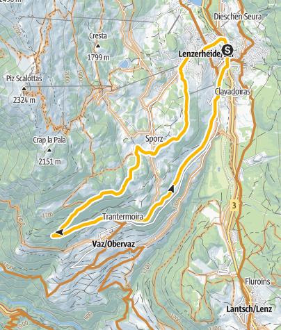 Karte / GPS Lain Tour