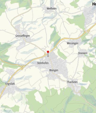Karte / Bisingen Hechinger Str.