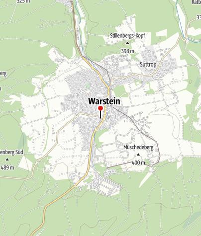 Kaart / Unsere Warsteiner Welt
