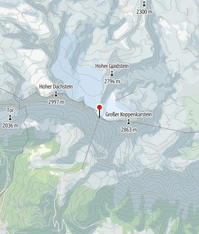 Karte / Dachstein Gletscherrestaurant