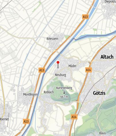 Kaart / Alamannen-Museumsdorf