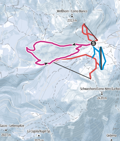Map / Passo Oclini - Between White-and Black Horn
