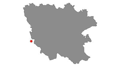 Mapa / Via Dinarica Trail u Hrvatskoj - Bijela linija - HR-W
