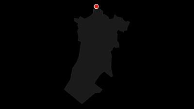 Map / Via Dinarica Trail in Croatia - White line - HR-W
