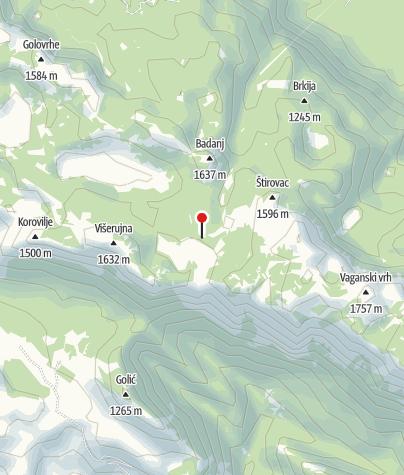 Map / Mountain shelter Struge