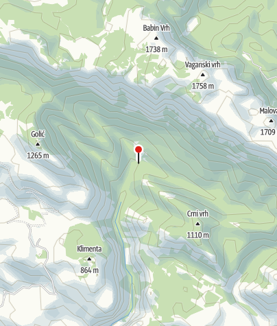 Map / Mountain lodge Paklenica