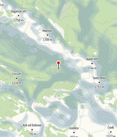 Map / Mountain shelter Ivine vodice