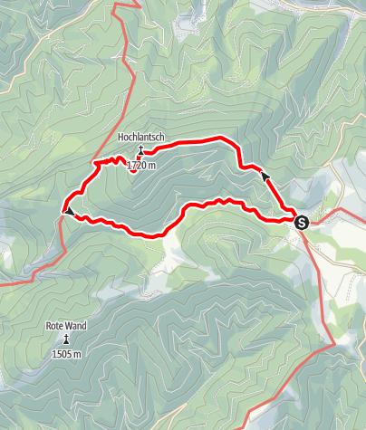 Karte / Hochlantsch-Runde mit Schüsserlbrunn