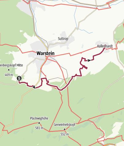 Karte / Waldrouten-Etappe Bilsteintal - Kallenhardt
