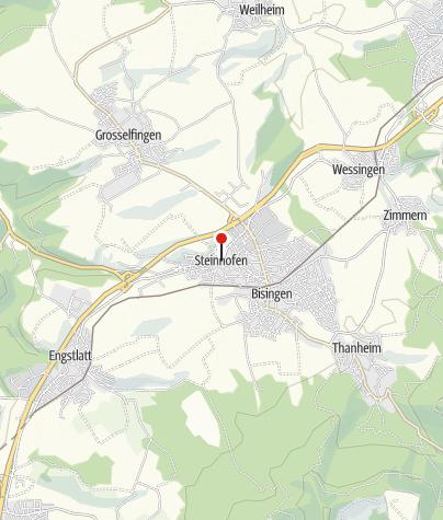 Karte / Bisingen Steinhofen Ortsmitte