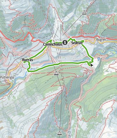 Karte / Mit Kinderwagen, Dorfrunde Sedrun