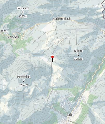 Karte / Untere Auenfeldalpe