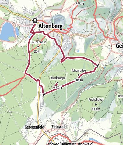 Karte / Rundwanderung BIWAK-Kuppe und Scharspitze