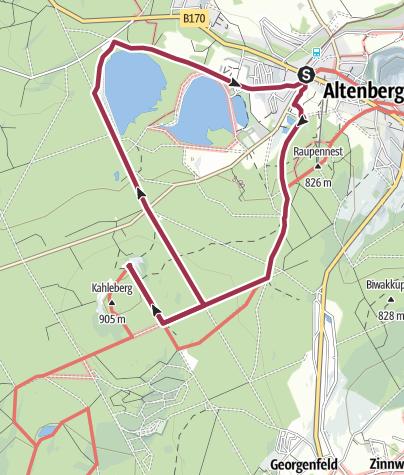 Karte / Auf zum Kahleberg