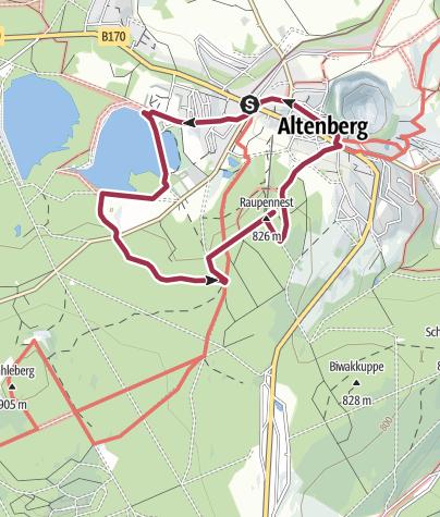 Karte / Auf den Spuren Max Nackes