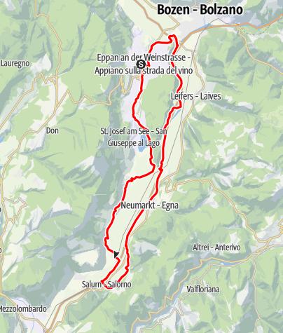 Map / Large Überetsch Unterland (lowlands) tour
