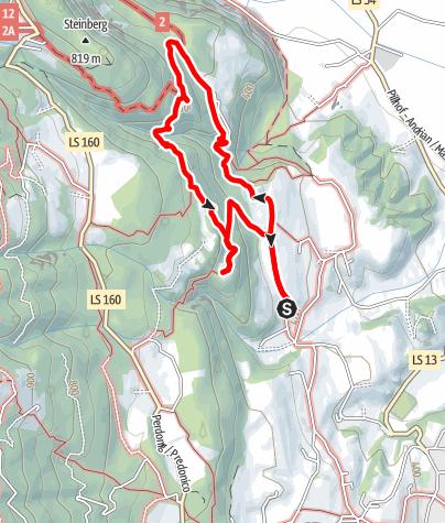 Mapa / Von St. Pauls zum Burgendreieck